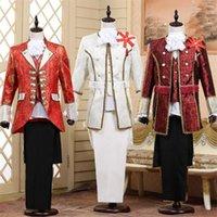 Men's Suits & Blazers Mens 3 Piece (Blazer+Vest+Pants) Terno Masculino Fashion Jacquard Court Dress Suit Men Party Wedding Prom Costume Homm