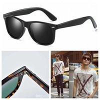 2021 تصميم النظارات الشمسية الاستقطبة الفاخرة الرجال النساء الطيار الشمس الزجاج uv400 نظارات نظارات إطار معدني بولارويد عدسة مع مربع وقضية