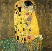 Das Kuss Ölgemälde auf Leinwand Home Decor Handcrafts / HD Print Wall Art Bild Anpassung ist akzeptabel 21051131