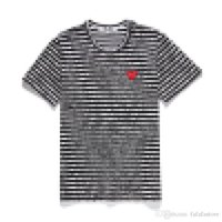 New Quality HOLIDAY Heart PLAY Summer Tee Royal Blue Mens Womens Com DES play GARCONS CDG Heart Couples tee short Sleeve T-shirts