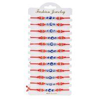 12 Anzüge Teufel Eye Armband Einfachheit Hand String Perlen Kette Armbänder Kristall Wulst Schmuck manuelle Webart 15zq y2