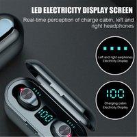 Digital display Bluetooth Earphones Mini Portable Wireless V5.0 Earphone Stereo Waterproof Handfree Sport Headphones In-Ear Earbuds headset