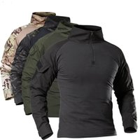 Men's Outdoor Tactical Hiking T-Shirts Military Army Camouflage Long Sleeve Hunting Climbing Shirt Male Breathable Frog Clothes