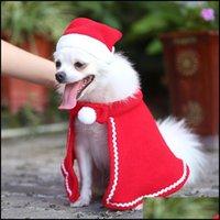 Apparel Pet & Gardenpet Christmas Costume Warm Dog Cape Cat Clothes Puppy Santa Hat With Cute Cloak Home Decor Dogs Supplies Jk2011Ph Drop D