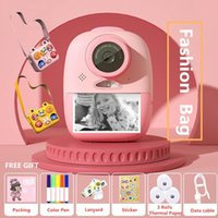 Printers 2 Inches HD Screen Digital Mini Printer Camera Kids Cartoon Cute Toys Outdoor Pography Props For Child Birthday Gift