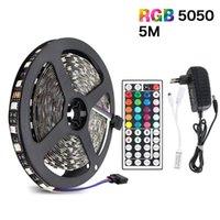 5/10 / 15m SMD RVB DC12V EU Brippe de la bande de LED flexible 60led / m IR Remote Substitut de la télécommande Décor Decor TV Strips