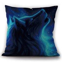 Ветер Индийский волк Тотемная льняная подушка для подушки автомобиль домашняя диван прикроватная подушка