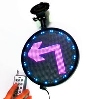 22cm 12v RF Remote RGB Led Sign Wifi Programmable Scrolling Message Board For Auto Windows Light Display DIY Kit Modules