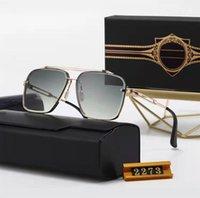 Dita Square Mach Bir Boy Erkekler Güneş Kadınlar Marka Tasarımcısı Düz Üst Ayna Güneş Gözlükleri Kare Altın Erkek Kadın Gözlük