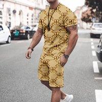 Modelo Picture Men S Sports Traje Camiseta de manga corta con pantalones cortos, cómodo, transpirable y seco, deportes de ocio diarios