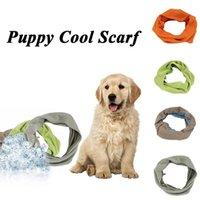 Odzież psa Color Color ICE Silk Cold Scarf na letnie Zapobieganie Heatstroke Zapobieganie zawijającym Neck Cat Puppy Fajne szaliki
