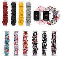머리 scrunchie 솔로 루프 iWatch 밴드 Apple Watch Series 6 SE 5 4 3 38mm 42mm 탄성 팔찌