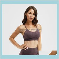 Gym Exercise Wear Outdoor Apparel & Outdoorsgym Clothing Women Frosted Retro Seamless Fitness Workout Sports Bras Push Up Athletic Joggers T