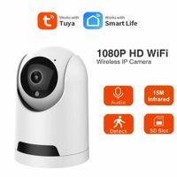Tuya smart Home Camera Wide Angle Wireless WiFi Web Cam HD 1080P Mini Cam Webcam Home Security DVR Night Vision Camcorder