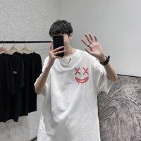 Мужская футболка Летний дьявол Smiley Face Print Футболка мужская пара Suzuki Hara студент мода свободный топ T11-P35