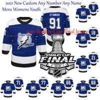 2021 Stanley Cup Final Steven Stamkos Jersey Tampa Bay Lightning Champions Andrei Vasilevskiy Nikita Kucherov Victor Hedman Brayden Point Jersey Jersey