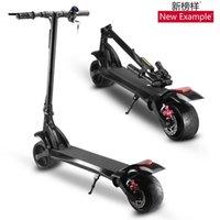 새로운 전기 스쿠터 10 인치 와이드 타이어 모터 페달 배터리 자전거 할리 휴대용 접이식 ebike