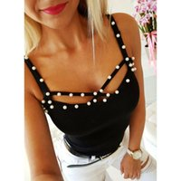 Selling Ladies Sexy Tops Strap Beaded Comfortable Suspender Top Knitting Sweater Vest Camis Tsirt Women's Sweaters