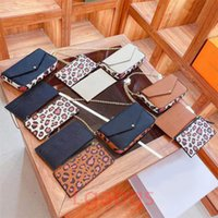 Pochette felicie m61276 سلسلة حقيبة الفاخرة المصممين النساء الكتف حقائب اليد مصمم تنقش زهرة الأزياء crossbody محفظة بطاقة حامل أكياس wllet إضافة مربع