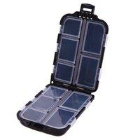 Cajas de señuelos de ishing Caja de almacenamiento de cebo Tackle de pesca Caja impermeable con 10 compartimentos Accesorios para herramientas