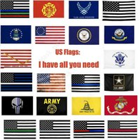 USA Flags US Army Banner Airforce Marine Corp Navy Besty Ross Flag Dont Tread On Me Flags Thin xxx Line Flag DHM22