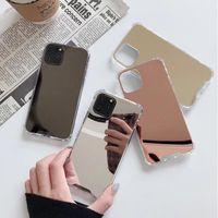 Specchio Make Up Antiurto Antiurto Telefono cellulare per iPhone 12 11 Pro Max XR XS 8 7 6 Plus Hybrid TPU PC PC Moda Donna Girls Cover