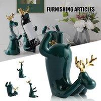 Винная стойка статуя лося держатель стойки простые и креатические керамики ремесло для домашней гостиной бар EDNU888 декоративные объекты фигурки