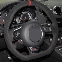 Lenkradabdeckungen Autoabdeckung DIY Rutschfeste Black Weder für Audis (8J) 2006-2014 A3 S3 (8P) Sportback 2008-2012 R8 (42)