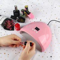 Nail Dryers 36W Nails Lamp Manicure Gel Baby Pink Varnish Dryer 12Pcs LED Nailr Drying Polish Auto Sensor Tools