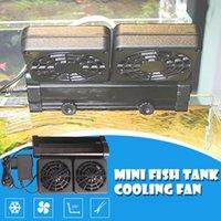 装飾12mm黒水族館冷却ファン冷風チラー調節可能な水クーラー2ファンヘッド