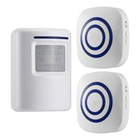 Doorbells None 110V-240V Wireless Doorbell PIR Infrared Sensor Motion Detector Entry Door Bell Alarm W  Receiver & Transmitter EU US Plug