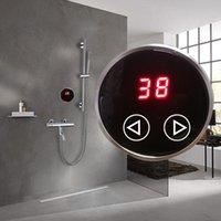 Memory Bathroom System Sistema Termostato Aquecedor de Água Bacia Torneiras Termostáticas Válvula De Mistura Digital Dispaly Painel Toque Sets