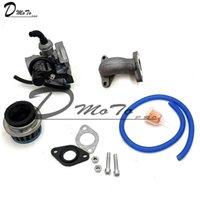 19mm 핸드 초크 기화기 기화기 Carb 흡입관 파이프 공기 필터 연료 50cc 70cc 90cc 110cc 125cc 쿼드 atv taotao sunl 오토바이 시스템