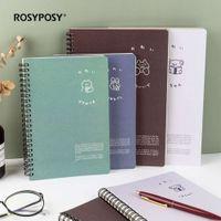 الإبداعية روزيبوسي طالب دفتر B5A5 لفائف كتاب سميكة 60 كتب يوميات جميلة