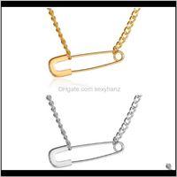 Anhänger SchmuckshreeReife Papier Clip Charme Halskette Gold Sier Farbe Legierung Anhänger Halsketten Für Frauen Modeschmuck Geschenke Drop Lieferung 20