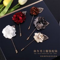 9 Color Flower Pin Pin Hombres Traje Broches Tela Hilado Pin Button Stick Flower Broche Para Boda 618 Q2