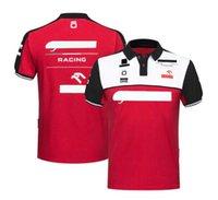 Fórmula 1 Equipe F1 Racing Terno Homens de Seca Rápida de Manga Curta De Manga Curta Camisa De Pólo Pollo à prova de vento e calor pode ser personalizado com o mesmo estilo