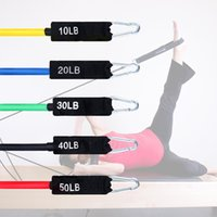 11pcs Latex Resistance Bands Crossfit Training Exercise Yoga Tubes gym Pull Rope Rubber Expander Elastic Band Fitness Bag