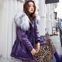 Women's Leather & Faux 100% Real Sheepskin Coat Women Winter Natural Fur Collar White Duck Down Jacket Female Genuine Jackets Chaqueta SY-11