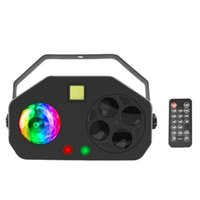 4 IN 1 RGB LED Gobo Strobe Magic Ball Laser Project DMX Stage Effect Lights Holiday DJ Disco Party Wedding Lighting