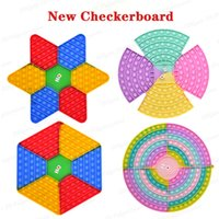 30CM Fidget Toys Big Size Chess Board Game Rainbow Colors Push Bubble Sensory Toy Stress Relief Interactive Party Games Gifts