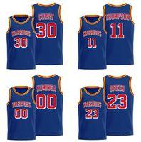 Men jeunesse S-2XL Basketball Jerseys Stephen 30 Curry 00 Jonathan Kuminga 11 Thompson 4 Moody 23 Green 2021 Classic 75ème Jersey