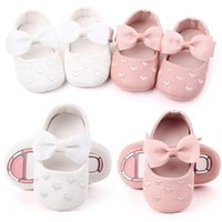 Infant Born Baby Girls Bow Shoes Girl Princess Hook & Loop F...