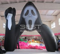 Event halloween decoration inflatable ghost holding a knife archway Newest grim Reaper arch for Scary party
