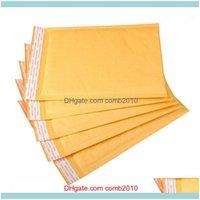 Card Files Desk Aessories Supplies Office School Business & Industrial30Pcs 15*20Cm Yellow Foam Fill Poly Mailer Kraft Paper Bubble Packagin