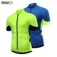 Jaquetas de corrida wosawe respirável homens ciclismo jersey rápido seco mtb mountain bike camisas mangas curtas zíper biker jerseys