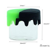 6 ml caixa de embalagem recipiente de cera frasco de erva seca frasco de vidro tanque vazio com tampa de silicone para delta 8 debab concentrar óleo de vape