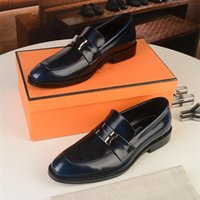 A1 Men Formal Shoes Bowknot Wedding Dress Male Flats Gentlemen Casual Slip on Shoes Black Patent Leather Red Suede Loafers Size 6.5-11