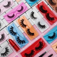 10 Styles Faux False Eyelashes 3D Lashes Soft Thick Natural Glitter Extension Mink Lashes Makeup Eyelashes