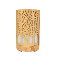 Humidifiers Creative Air Purifier Ultrasonic Aroma Diffuser Humidifier Wood Grain Colorful Light Essential Oil For Home 127